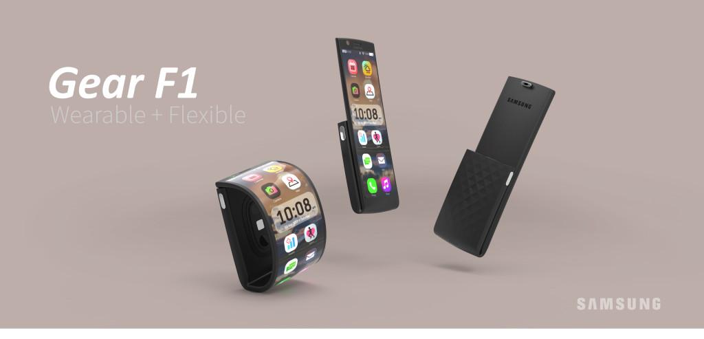 Samsung wearable phone Gear F1 2016 poster main