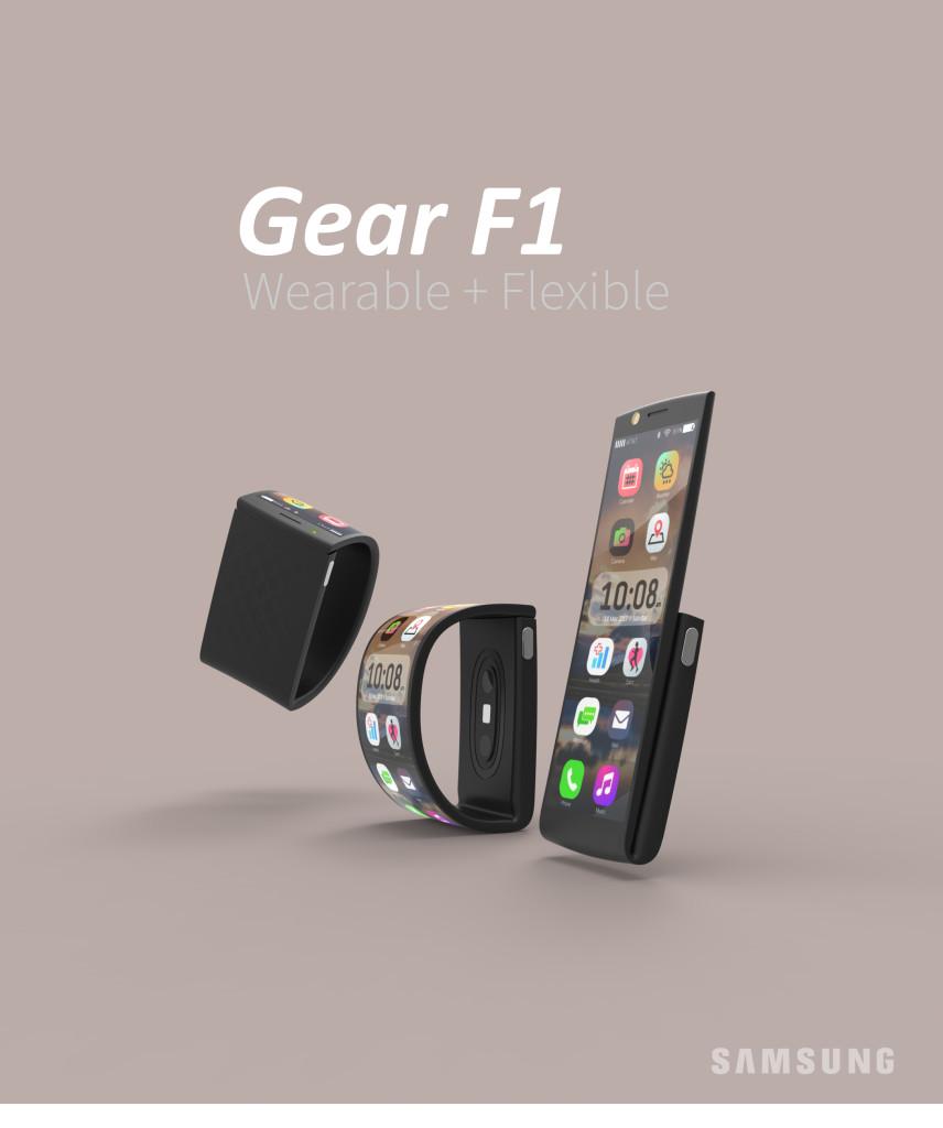 Samsung wearable phone Gear F1 2016 poster portrait JPG v01