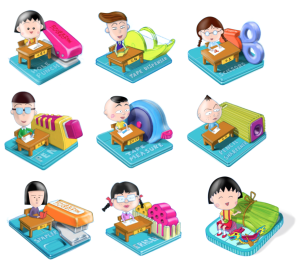 maruko chan stationery set for retail promotion by Justin Tsui
